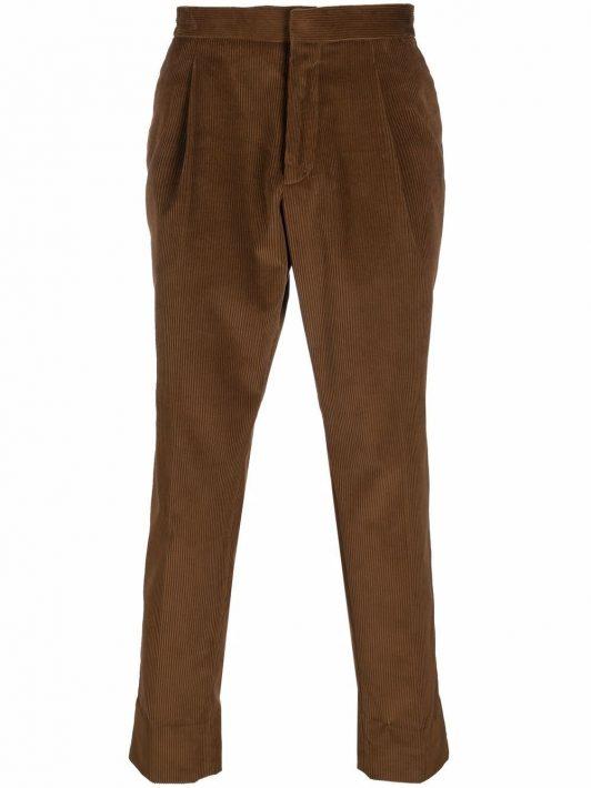 Z Zegna corduroy straight-leg trousers - Braun