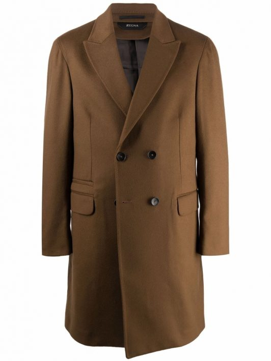 Z Zegna double-breasted wool coat - Braun