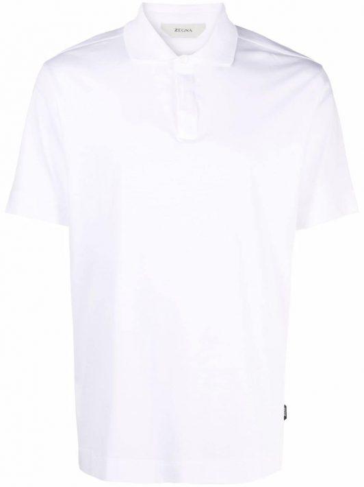 Z Zegna side logo-patch polo shirt - Weiß