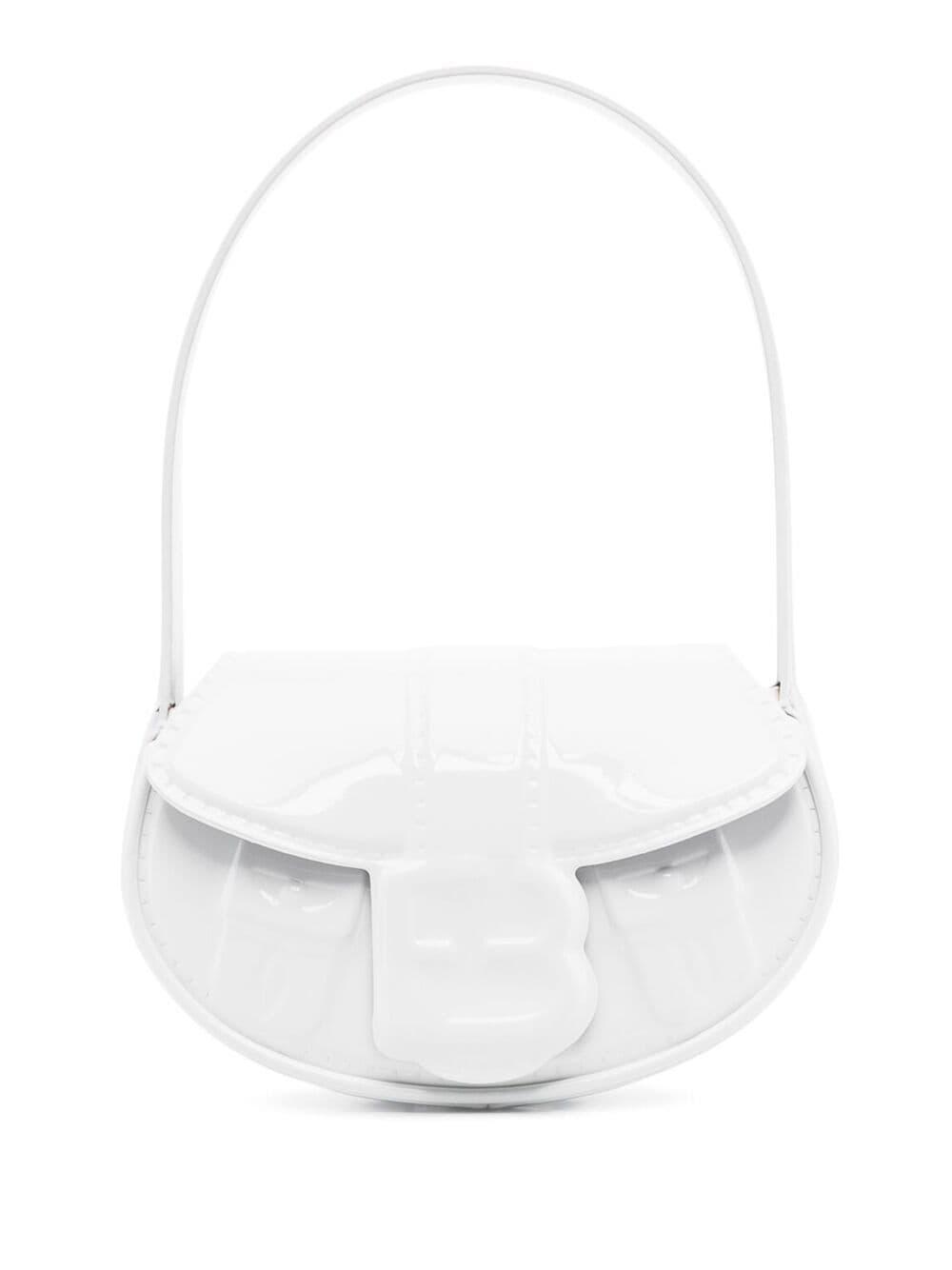 forBitches Handtasche mit Logo-Prägung - Weiß