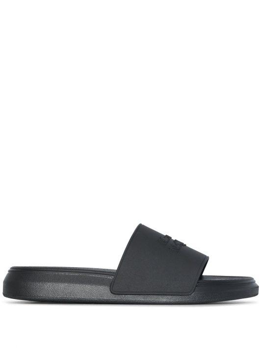 Alexander McQueen Oversize hybrid sandals - Schwarz