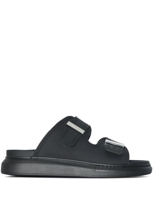 Alexander McQueen oversized Hybrid sandals - Schwarz