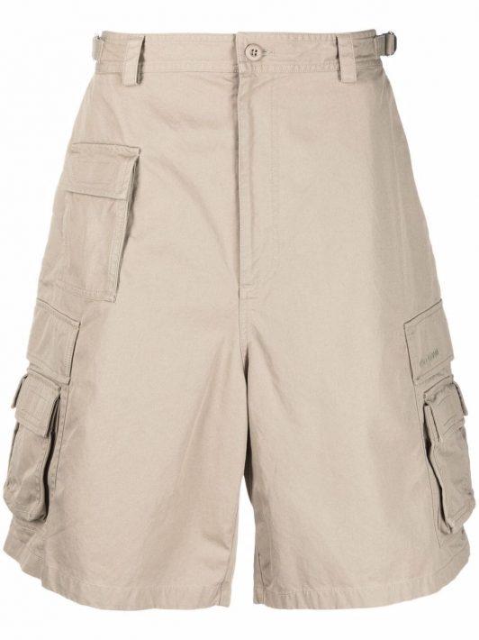 Balenciaga cotton cargo shorts - Nude