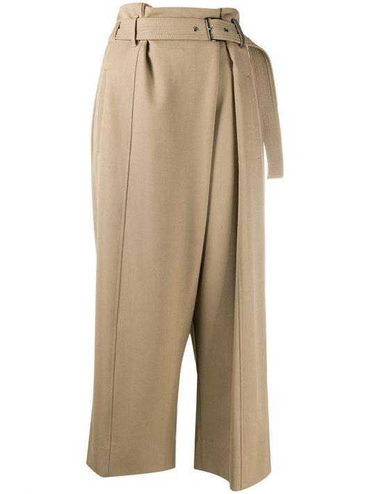 Brunello Cucinelli Cropped-Hose mit Gürtel - Nude