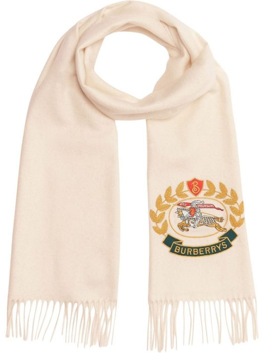Burberry Schal mit Logo - Weiß