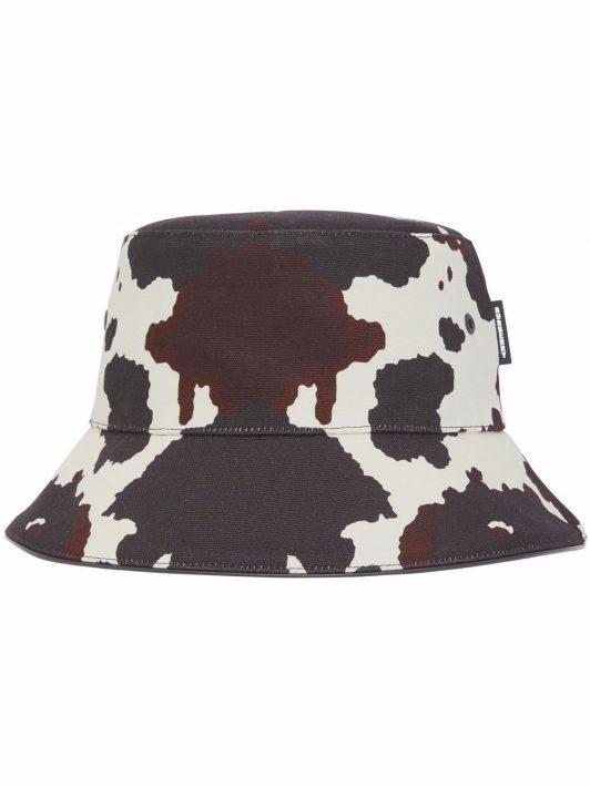 Burberry cow-print bucket hat - Braun