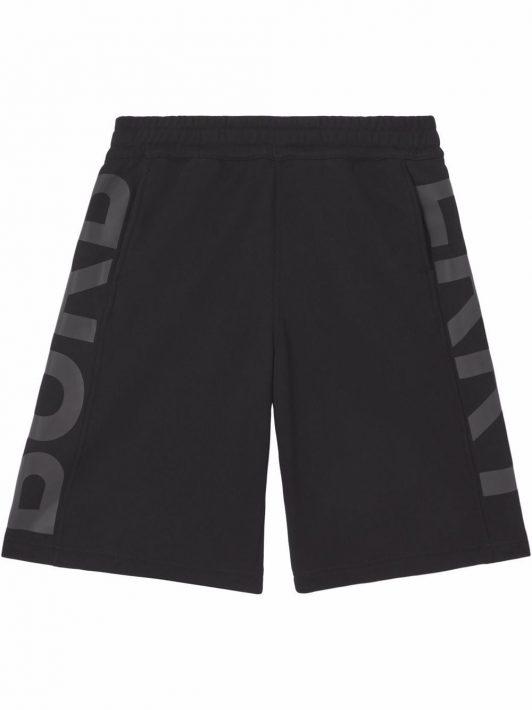 Burberry logo-print track shorts - Schwarz