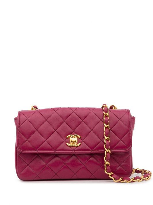 Chanel Pre-Owned 1985-1993 Gesteppte Schultertasche - Rosa