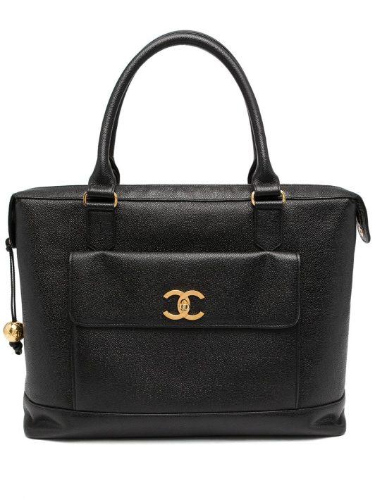 Chanel Pre-Owned 1995 Jumbo CC Handtasche - Schwarz