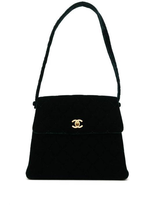 Chanel Pre-Owned 1998 Handtasche mit Rautensteppung - Grün