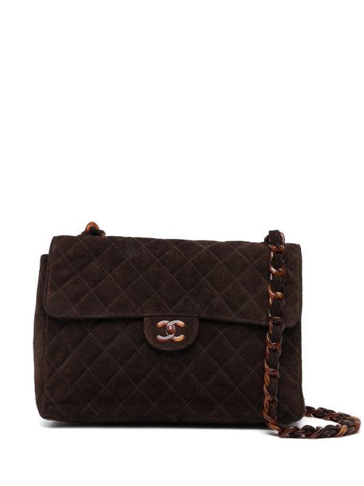 Chanel Pre-Owned 1998 Jumbo Classic Flap Schultertasche - Braun