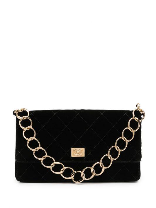 Chanel Pre-Owned 2002 Handtasche mit Rautensteppung - Schwarz