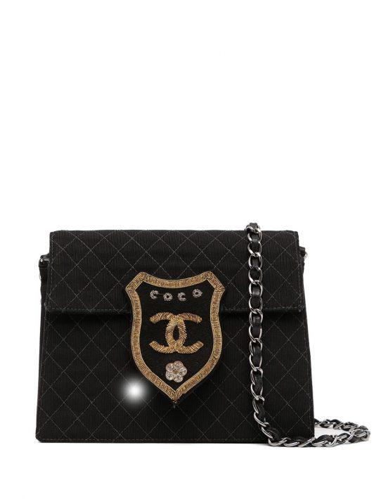Chanel Pre-Owned 2005 Gesteppte Schultertasche - Schwarz