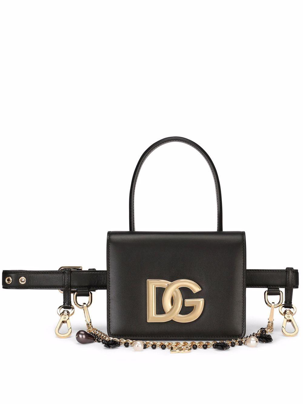 Dolce & Gabbana calf leather belt bag - Schwarz