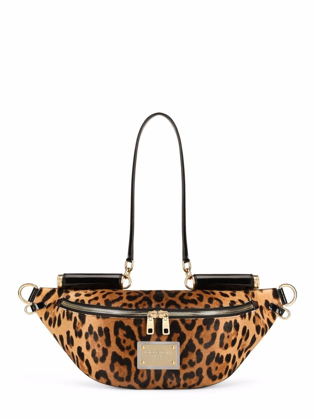 Dolce & Gabbana leopard-print belt bag - Braun