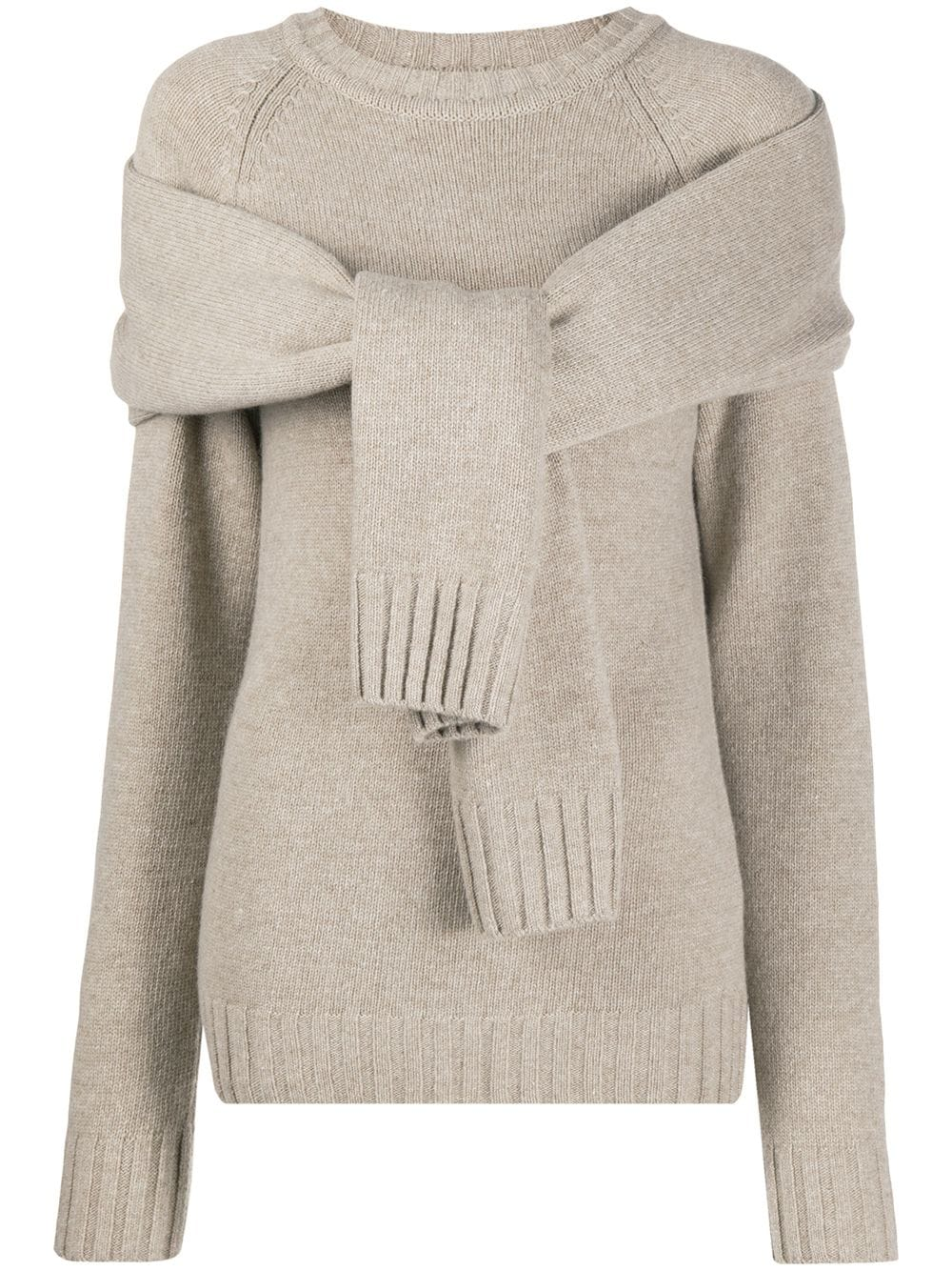 Eudon Choi tie-front sweater - Nude