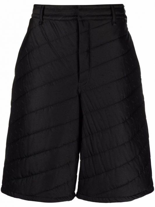 Fendi quilted knee-length shorts - Schwarz