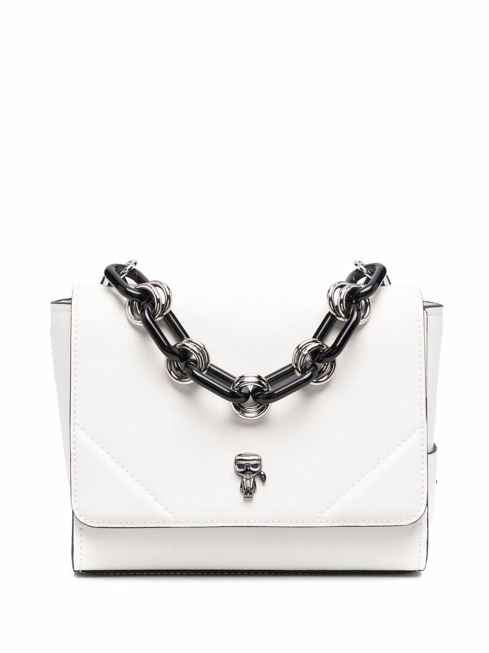 Karl Lagerfeld Ikonik 3D-Pin Handtasche - Weiß