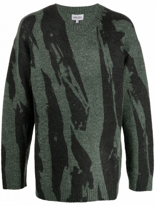 Kenzo Pullover mit abstraktem Print - Grün