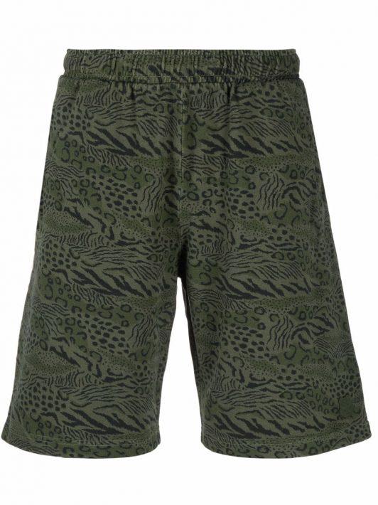Kenzo animal print shorts - Grün