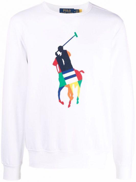 Lauren Ralph Lauren Sweatshirt mit Polo Pony-Print - 001 WHITE