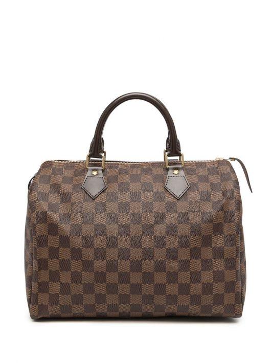 Louis Vuitton 2010s pre-owned Speedy Reisetasche aus Damier Ebène-Canvas 30cm - Braun