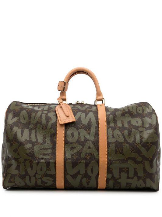 Louis Vuitton x Stephen Sprouse 2001 pre-owned Keepall Reisetasche 50cm - Grün