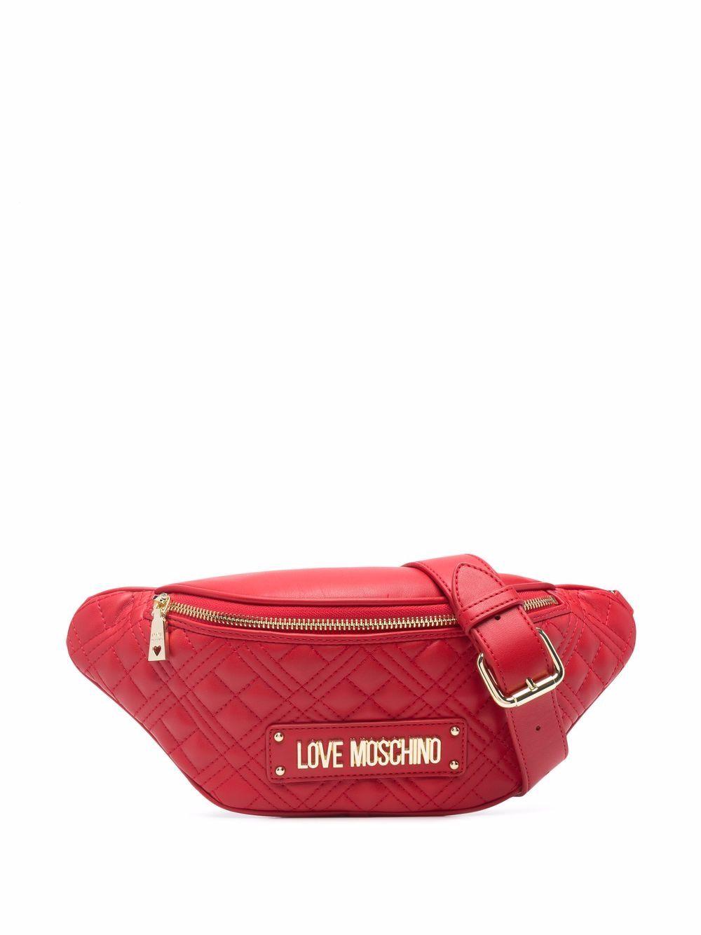 Love Moschino Gürteltasche aus Faux-Leder - Rot