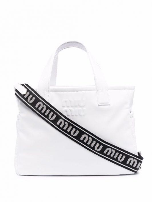 Miu Miu Ciré Handtasche - Weiß