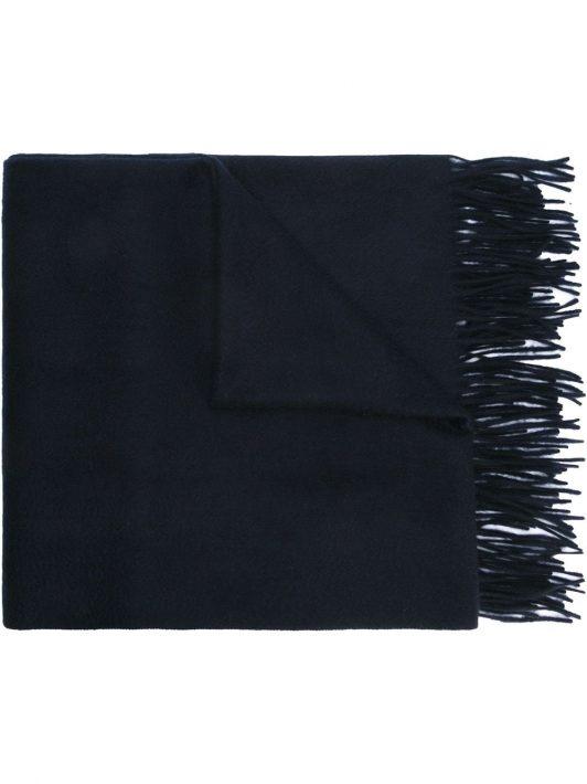 N.Peal Kaschmir-Schal mit Fransen - Blau