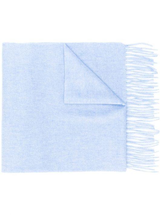 N.Peal Schal mit Webmuster - Blau