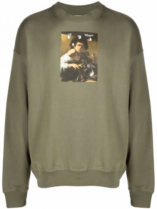 Off-White Caravaggio painting sweatshirt - Grün