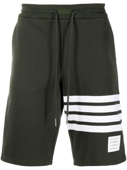 Thom Browne Shorts mit Streifen - Grün
