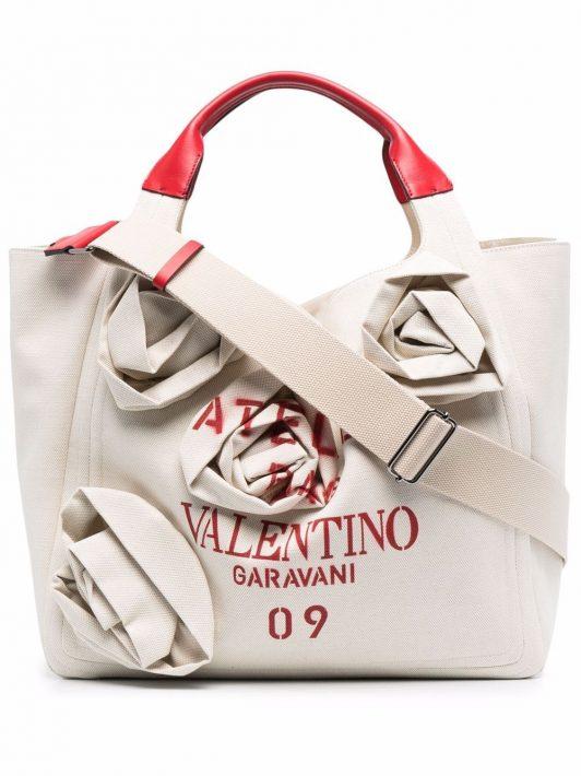 Valentino Garavani Atelier 09 Rose Blossom Edition Handtasche - Nude