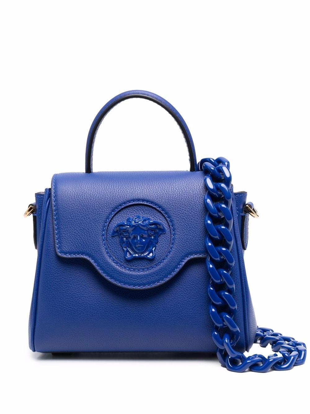Versace Kleine La Medusa Handtasche - Blau