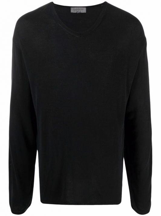 Yohji Yamamoto Pre-Owned 2010s Pullover mit V-Ausschnitt - Schwarz