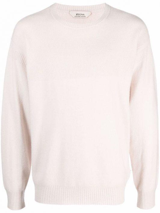 Z Zegna Pullover aus geripptem Strick - Weiß
