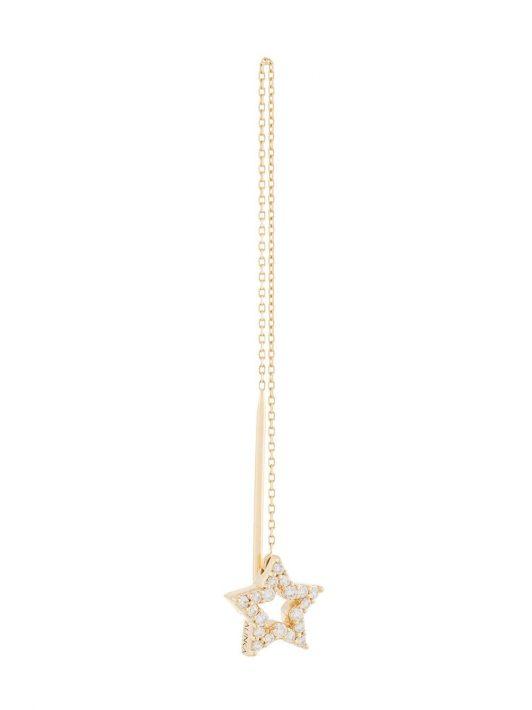 ALINKA 18kt 'Stasia Thread' Gelbgoldohrring mit Diamanten
