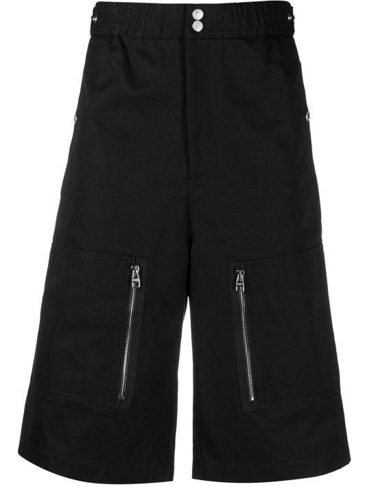 Alexander McQueen Bermudas mit mehreren Taschen - Schwarz