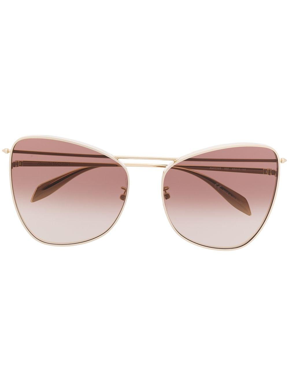 Alexander McQueen Eyewear Cat-Eye-Sonnenbrille - Gold