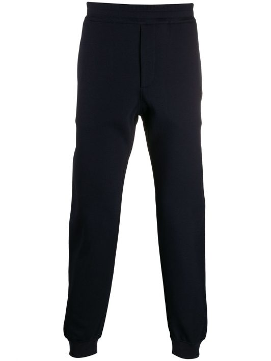 Alexander McQueen Jogginghose mit Totenkopf-Patch - Blau
