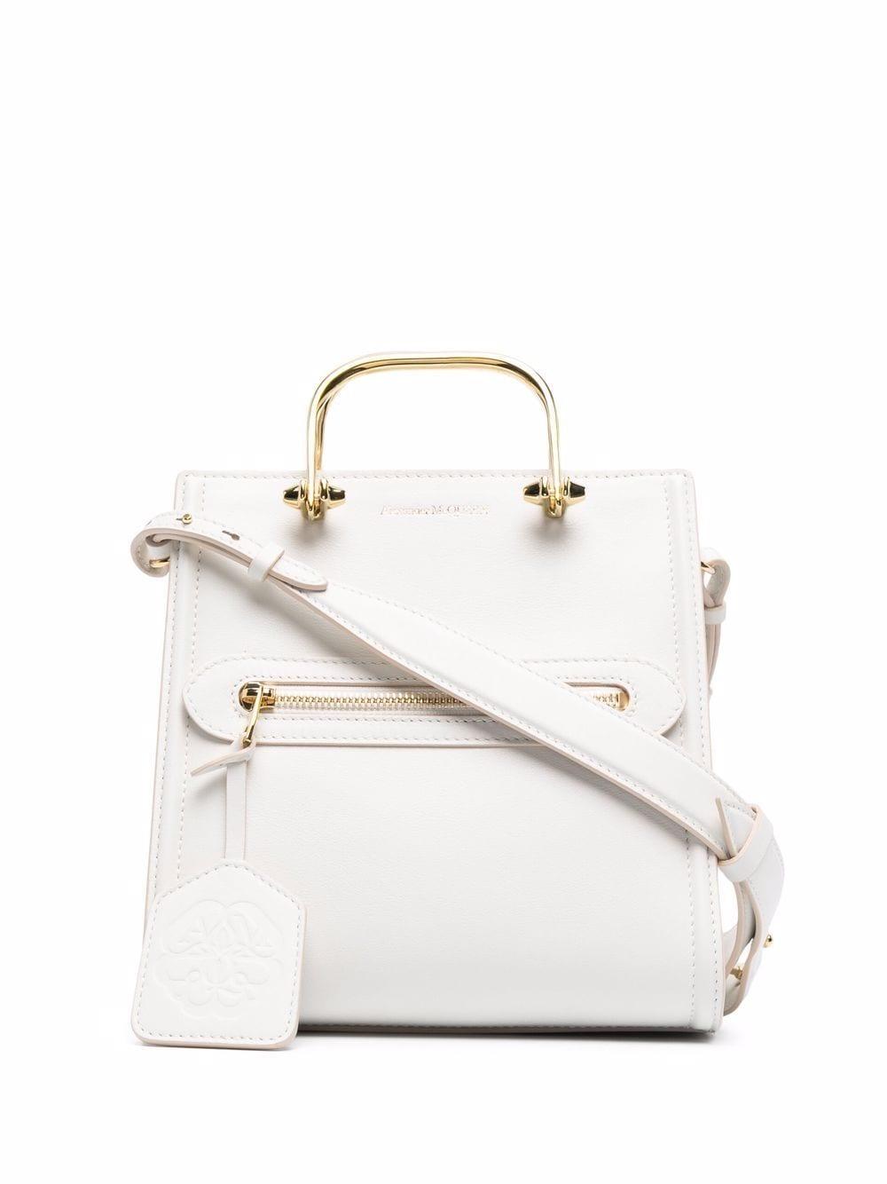 Alexander McQueen The Short Story Handtasche - Weiß