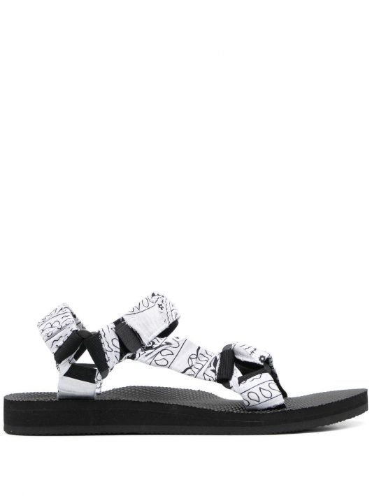 Arizona Love Trekky Sandalen mit Bandana-Print - Weiß