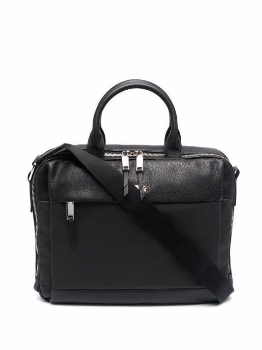 Bally logo top-handle briefcase - Schwarz