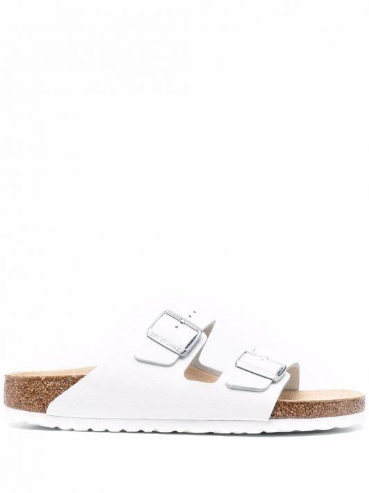 Birkenstock Arizona double-strap leather sandals - Weiß
