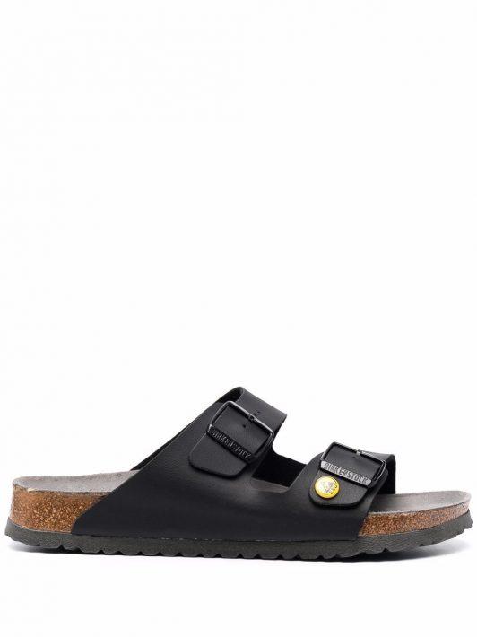 Birkenstock double-strap leather sandals - Schwarz