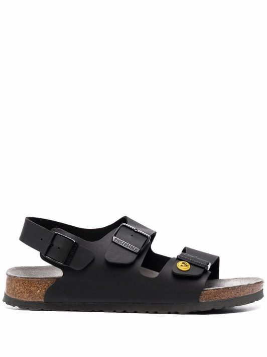 Birkenstock slingback leather sandals - Schwarz