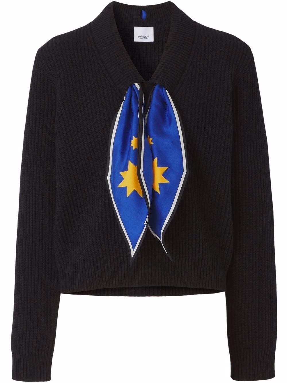 Burberry Pullover mit Schaldetail - Schwarz