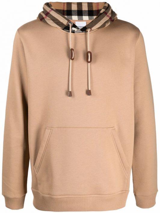 Burberry vintage-print hoodie - Braun