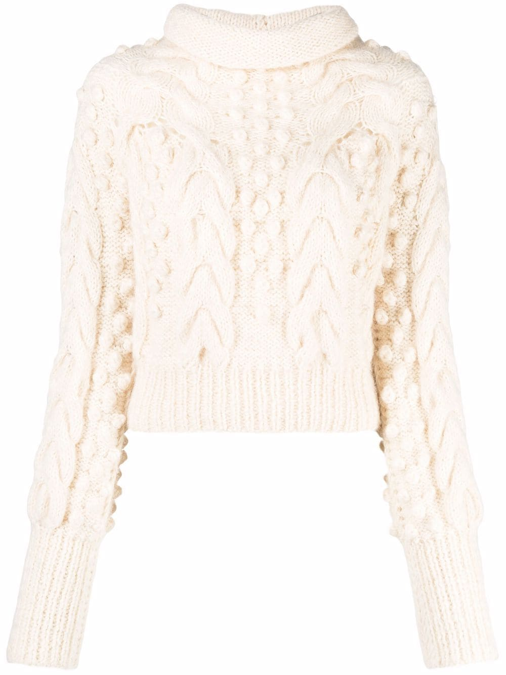 CONCEPTO Pullover mit Zopfmuster - Nude